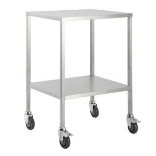 Trolley Stainless Steel Flat Top No Draw 50x50x90CM