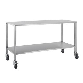Trolley Stainless Steel Flat Top No Draw 80x50x90cm